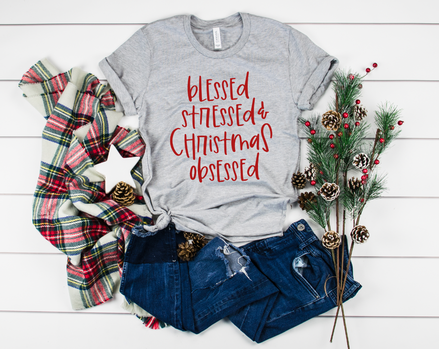 Stylish Planners Home Decor and Stylish Gifts - Christmas Obsessed T-Shirt