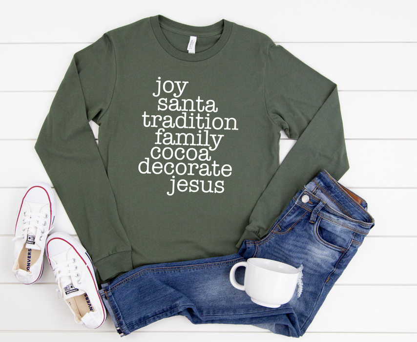 Stylish Planners Home Decor and Stylish Gifts - All Things Christmas Long Sleeve Shirt