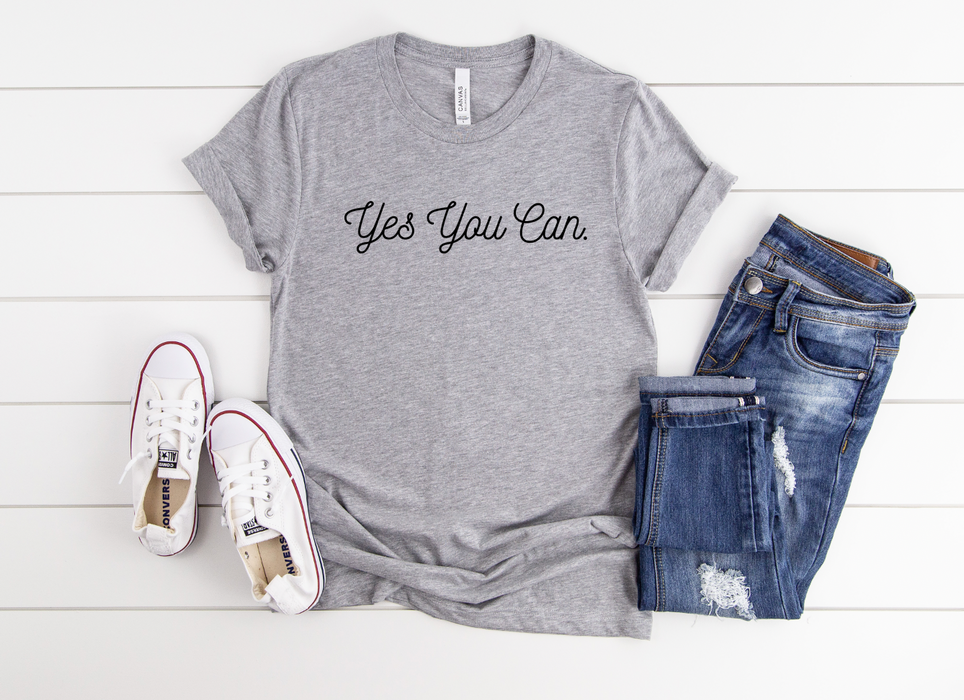 Stylish Planners Home Decor and Stylish Gifts - Yes You Can T-Shirt