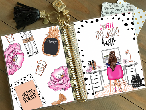Stylish Planners Home Decor and Stylish Gifts - PRINTABLE Stylish Planner™ Cover Set - Deskie (Brunette)
