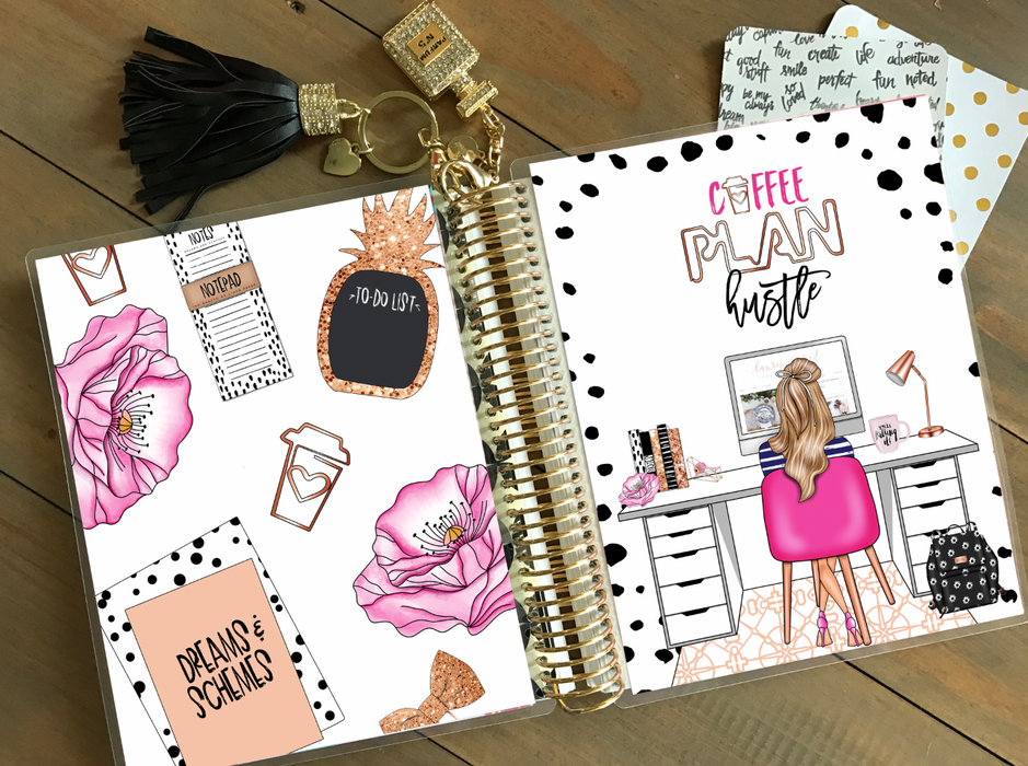 Stylish Planners Home Decor and Stylish Gifts - PRINTABLE Stylish Planner™ Cover Set - Deskie (Blonde)