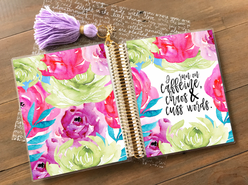 Stylish Planners Home Decor and Stylish Gifts - PRINTABLE Stylish Planner™ Cover Set - Running on Chaos