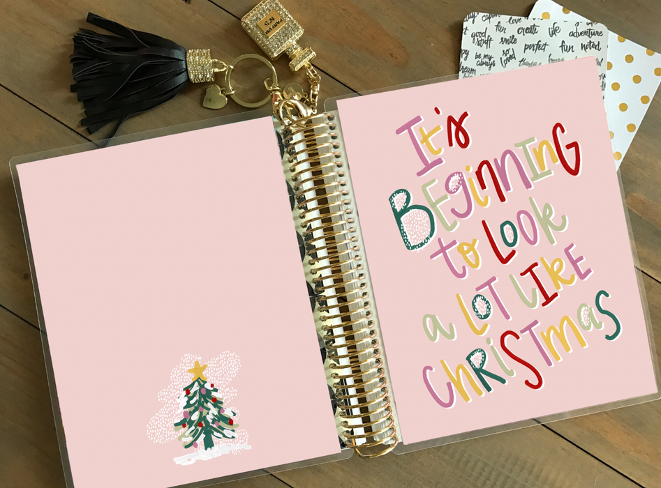 Stylish Planners Home Decor and Stylish Gifts - PRINTABLE Stylish Planner™ Cover Set - It's Beginning to Look A Lot Like Christmas