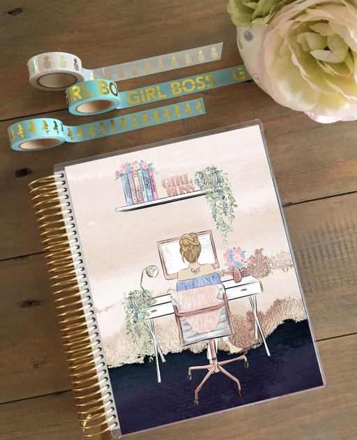 Stylish Planners Home Decor and Stylish Gifts - PRINTABLE Stylish Planner™ Cover Set - Stylish Boss - Blonde