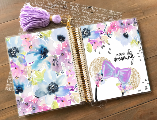 Stylish Planners Home Decor and Stylish Gifts - PRINTABLE Stylish Planner™ Cover Set - Never Stop Dreaming (Purple)