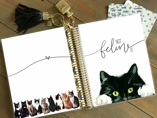 Stylish Planners Home Decor and Stylish Gifts - PRINTABLE Stylish Planner™ Cover Set - Not Feline It