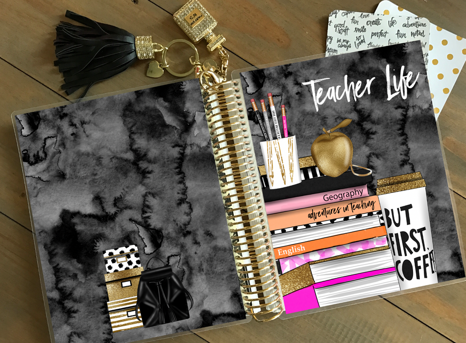 Stylish Planners Home Decor and Stylish Gifts - PRINTABLE Stylish Planner™ Cover Set - Teacher Book Stack