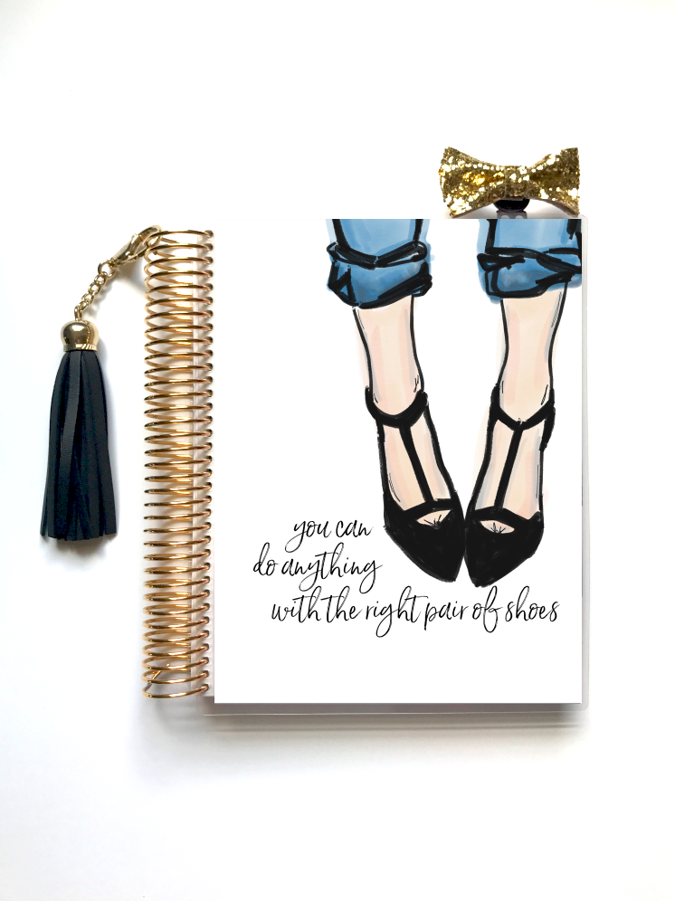 Right Pair of Shoes Planner Cover (Hand-Drawn by Britt) - Stylish Planner