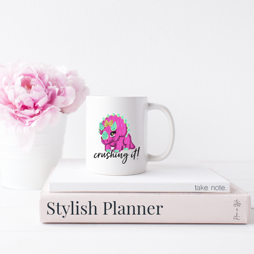 Stylish Planners Home Decor and Stylish Gifts - Dino Crushing It Mug