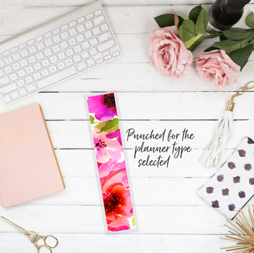 Pink Peonies - Planner Bookmark - Stylish Planner