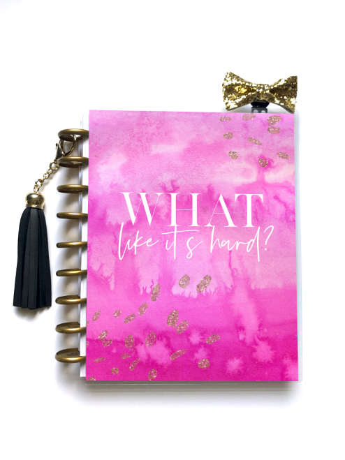 Pink Power Planner Cover - Stylish Planner