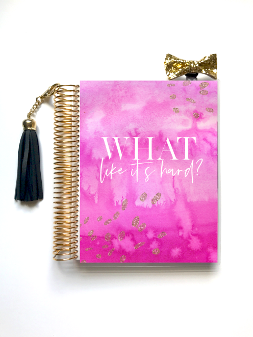 Stylish Planners Home Decor and Stylish Gifts - Pink Power Planner Cover