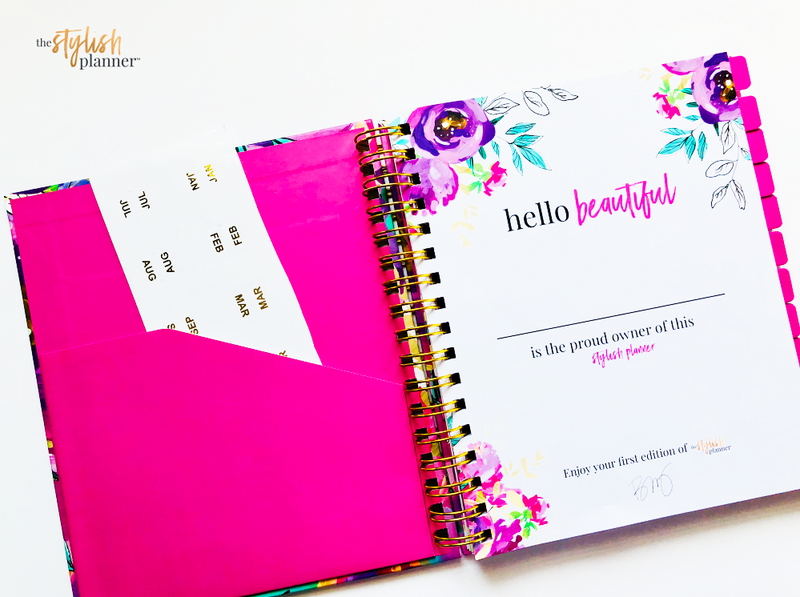 Stylish Planners Home Decor and Stylish Gifts - The Stylish Planner: The Stylish Planner™ Blooming Petals Planner (12-months)
