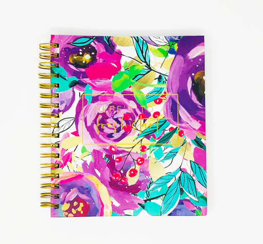 The Stylish Planner® - Hardbound Blooming Petals Planner (12-months undated) - Stylish & Co by Britt Mills