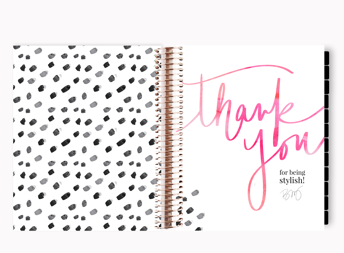 The Stylish Way™ Planner: Watercolor Flowers (12-months undated)