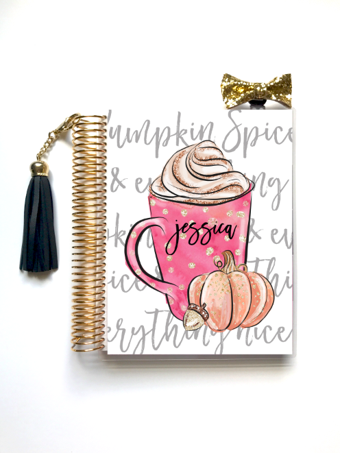 Stylish Planners Home Decor and Stylish Gifts - Pumpkin Spice Planner Cover