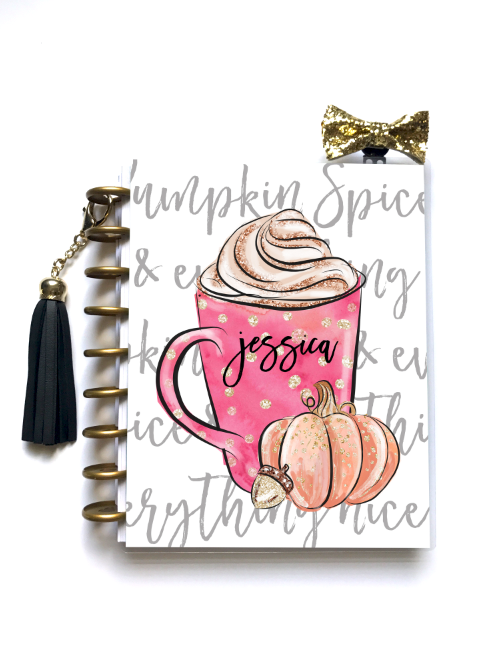 Pumpkin Spice - Planner Cover - Stylish Planner