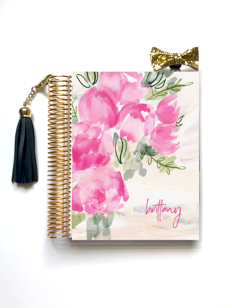Plush Peony - Planner Cover (Hand Painted by Britt)