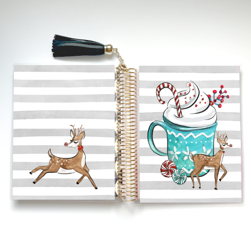 Stylish Planners Home Decor and Stylish Gifts - Peppermint Joy Planner Cover