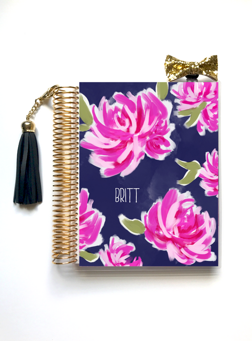 Stylish Planners Home Decor and Stylish Gifts - Pretty Peonies Planner Cover