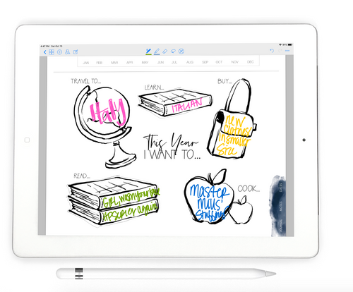 Stylish Planner and Stylish Gifts - I Want To Tracker - Digital Planner Inserts