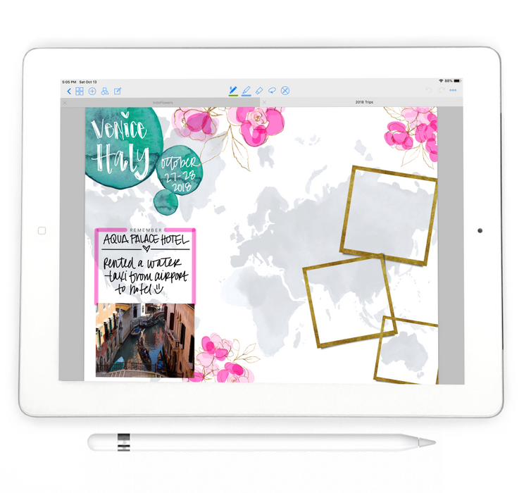 Stylish Planners Home Decor and Stylish Gifts - Travel Digital Notebook - Digital Planner Collection