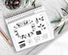Stylish Planners Home Decor and Stylish Gifts - BYO: Black Buds Monthly Design Elements - Digital Planner Stickers