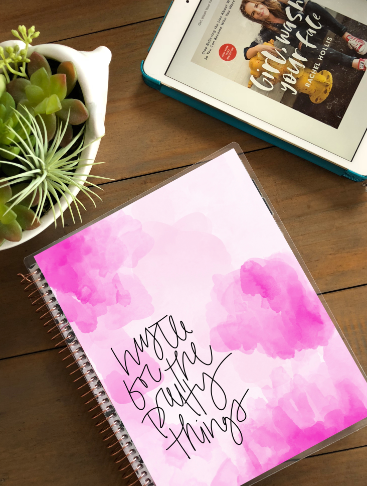 Pretty in Pink Planner Cover (Hand-Drawn by Britt)