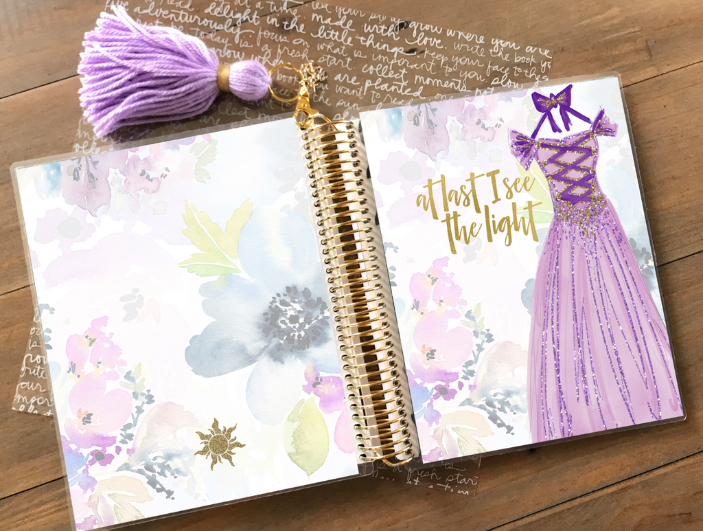 Stylish Planners Home Decor and Stylish Gifts - See The Light Princess - Princess Collection Planner Cover (Hand-Drawn by Britt)