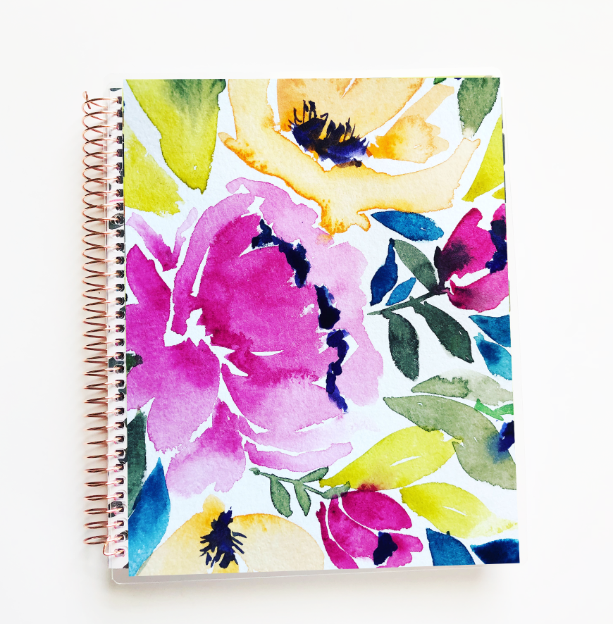 Stylish Planners Home Decor and Stylish Gifts - The Stylish Way™ Planner: Watercolor Flowers (12-months undated)