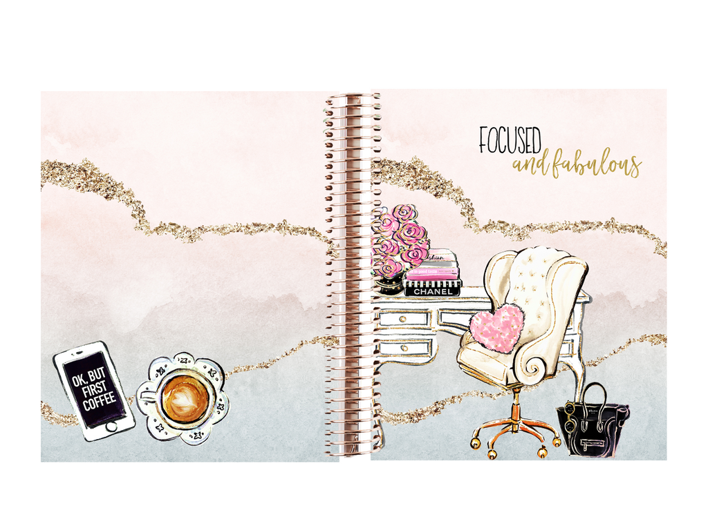 Stylish Planners Home Decor and Stylish Gifts - The Stylish Way™ Planner: Focused & Fabulous (12-months undated)