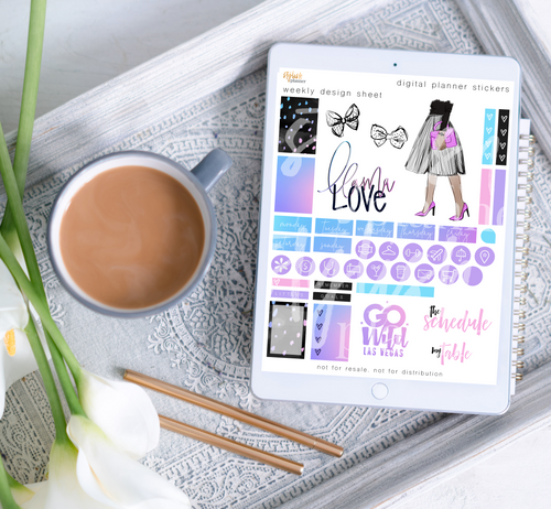 Stylish Planner and Stylish Gifts - Go Wild Girl Digital Planner Stickers - Weekly Design Sheet