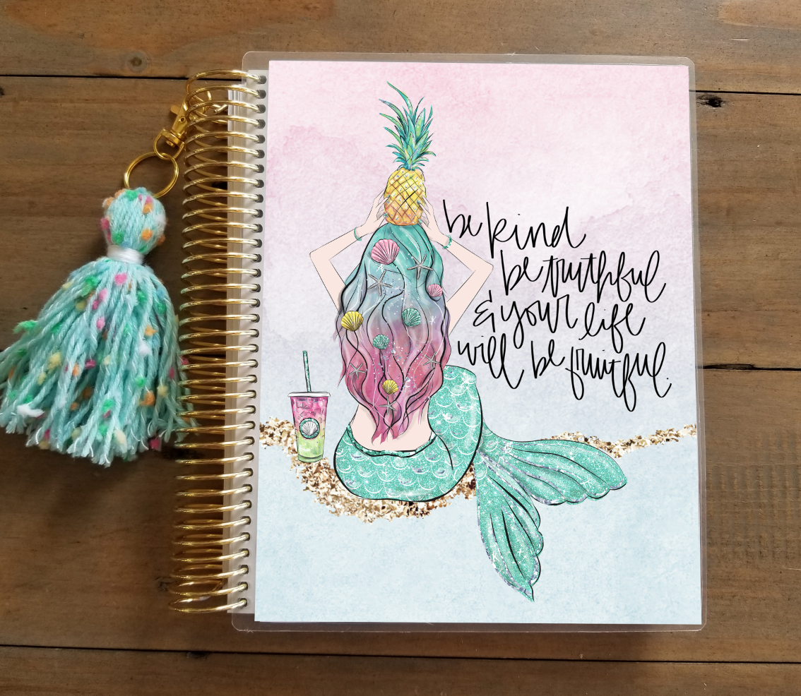 Pineapple Princess Planner Cover