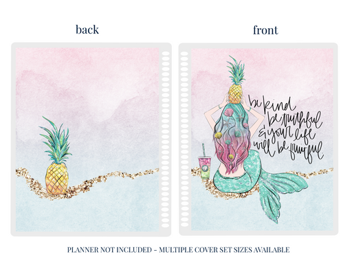 Pineapple Princess Planner Cover - Stylish & Co by Britt Mills