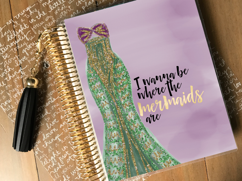 Stylish Planners Home Decor and Stylish Gifts - Under The Sea - Princess Collection Planner Cover (Hand-Drawn by Britt)
