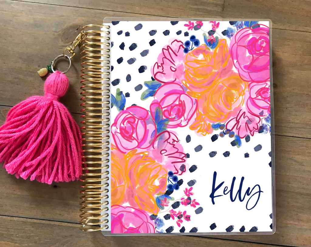 Stylish Planners Home Decor and Stylish Gifts - Tropic Nights Planner Cover (Hand-Drawn by Britt)
