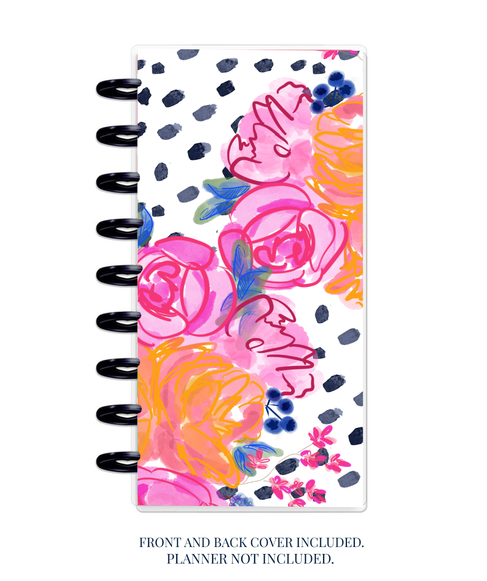 Stylish Planners Home Decor and Stylish Gifts - Tropic Nights - Half-Sheet Planner Cover (Hand-Drawn by Britt)