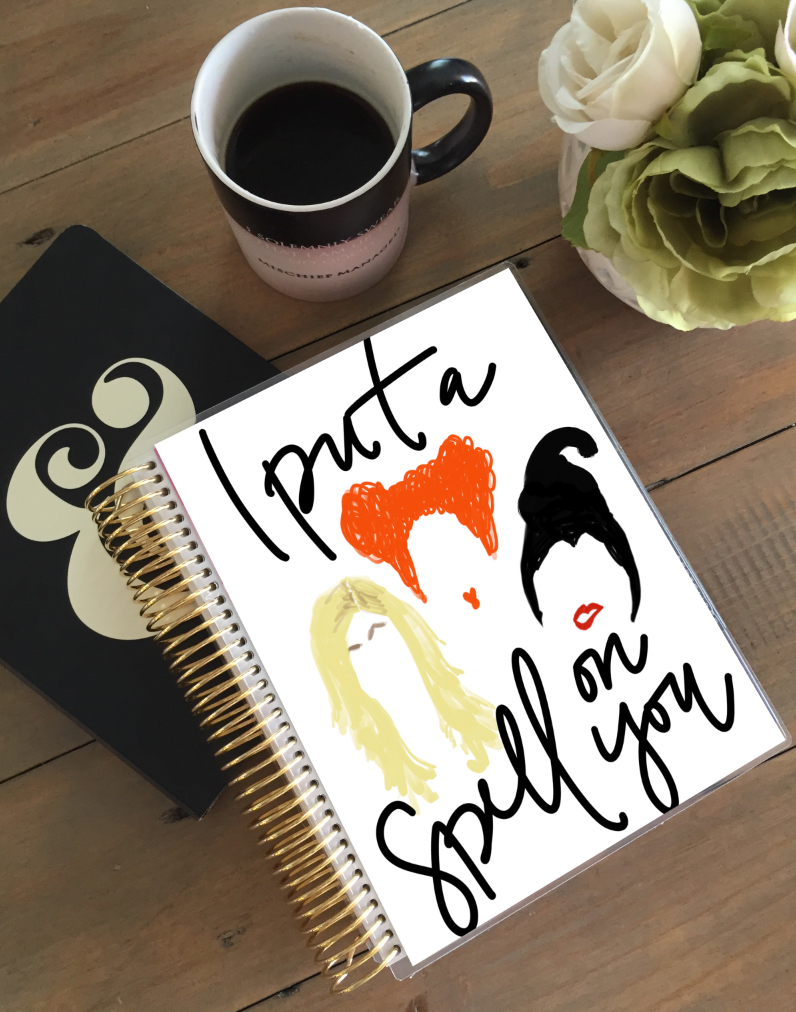 Stylish Planners Home Decor and Stylish Gifts - I Put a Spell on You Planner Cover (Hand-Drawn by Britt)