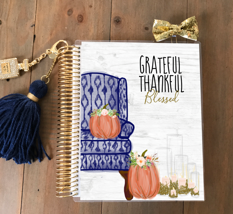 Stylish Planners Home Decor and Stylish Gifts - Grateful, Thankful & Blessed Planner Cover