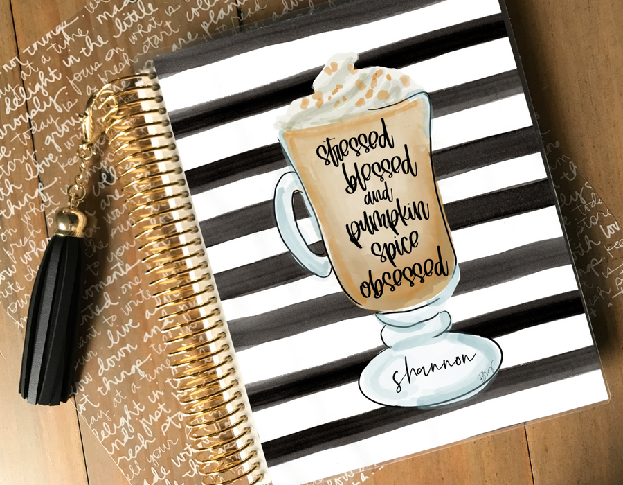 Stylish Planners Home Decor and Stylish Gifts - Pumpkin Spice Obsessed Planner Cover (Stylish Planner x Alicia Michelle)