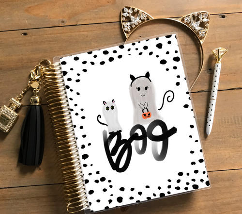 Stylish Planner and Stylish Gifts - Boo Planner Cover (Hand-painted by Britt)