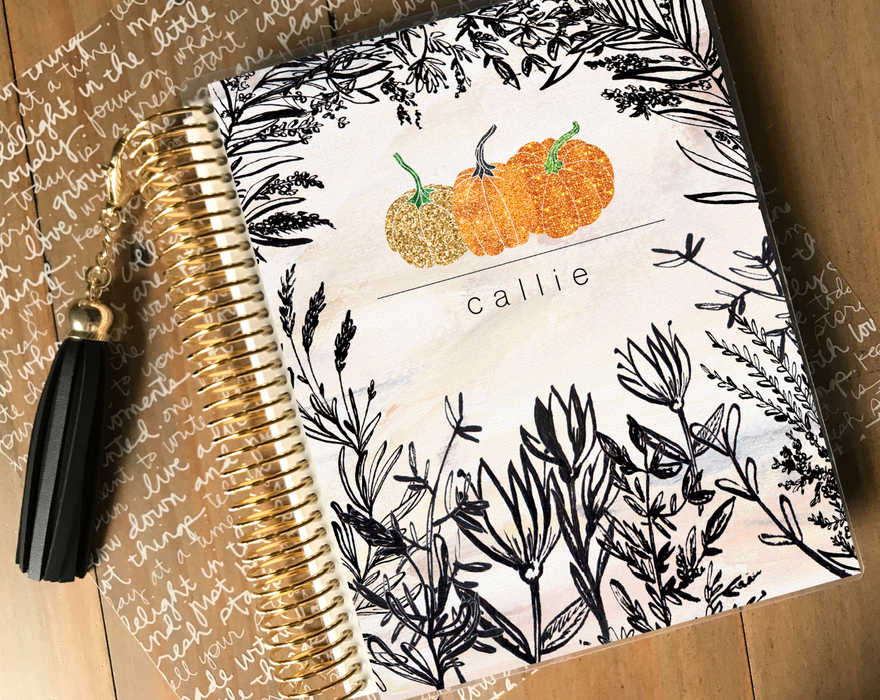 Stylish Planners Home Decor and Stylish Gifts - Pumpkin Patch Planner Cover