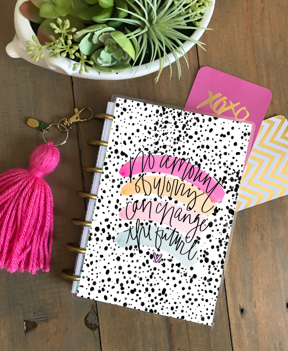 Stylish Planners Home Decor and Stylish Gifts - Don't Worry, Darling Planner Cover (Hand-Drawn by Britt)