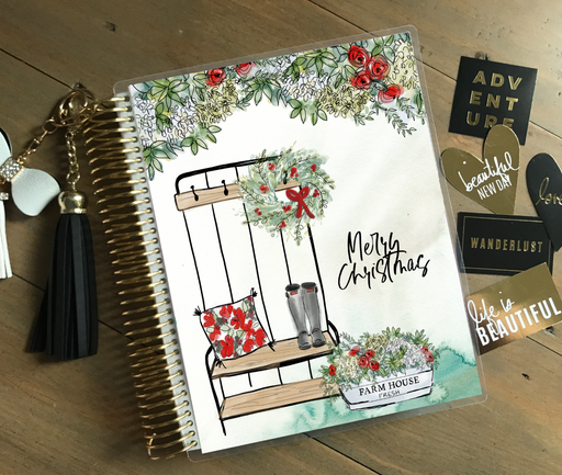 Stylish Planners Home Decor and Stylish Gifts - PRINTABLE Stylish Planner™ Cover Set - Cozy Farmhouse Christmas