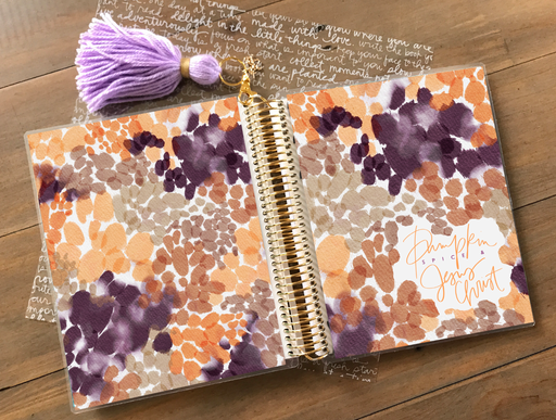 Pumpkin Spice Planner Cover - Stylish & Co by Britt Mills