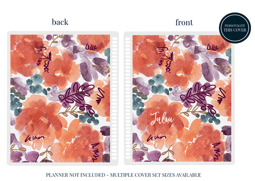 Stylish Planners Home Decor and Stylish Gifts - Pumpkin Bloom Planner Cover