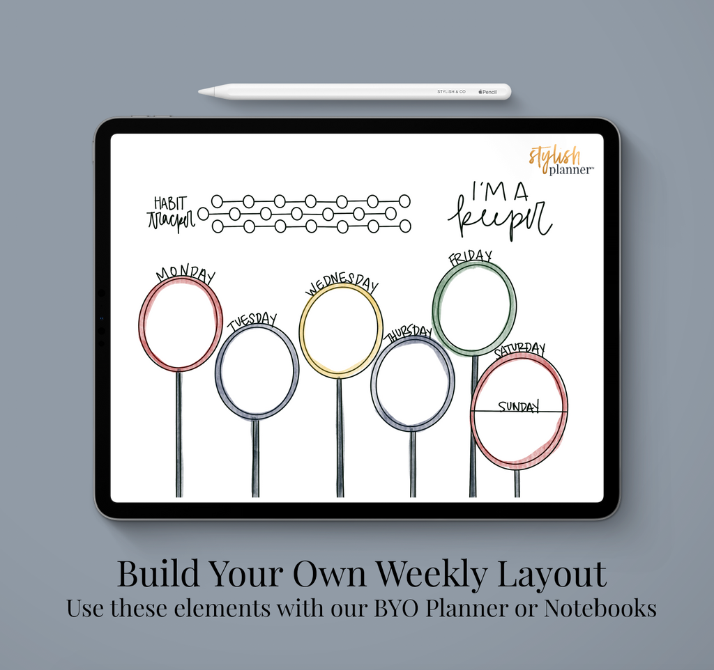 Stylish Planners Home Decor and Stylish Gifts - BYO: Weekly Designed Layout - Wizard Life