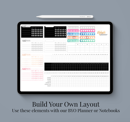 Stylish Planners Home Decor and Stylish Gifts - BYO: Tracker Elements Design Elements - Digital Planner