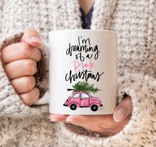 Stylish Planners Home Decor and Stylish Gifts - Pink Christmas Mug