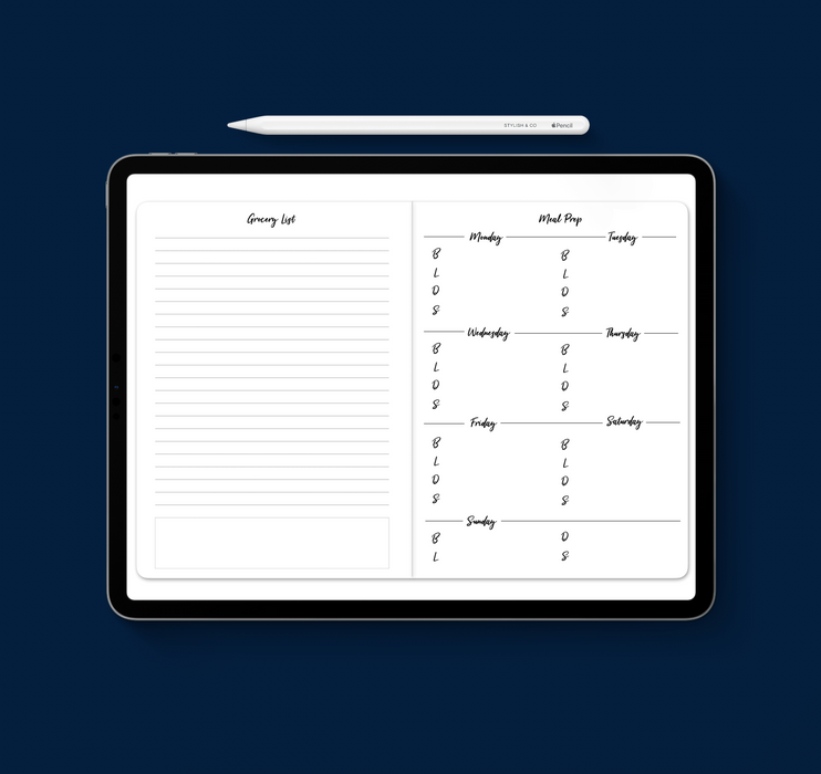 Stylish Planners Home Decor and Stylish Gifts - Bundle: Eight Tracker Digital Planner Inserts (can use with BYO)